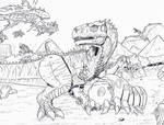 Monster Isle: Goro and Mothra