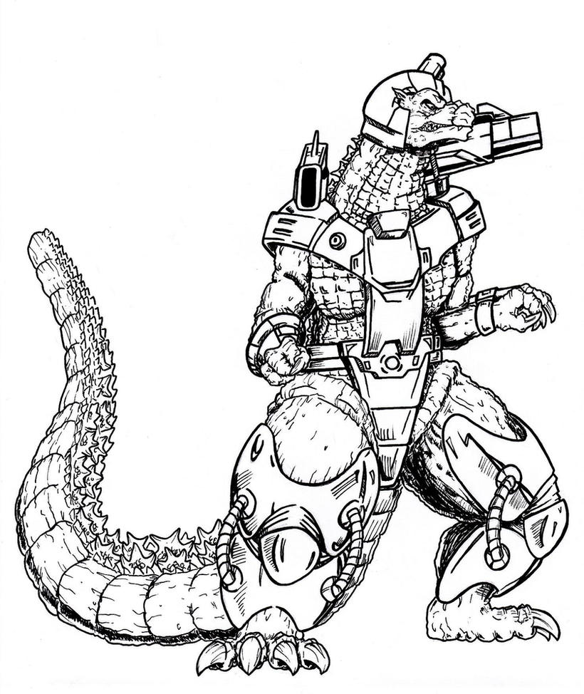 godzilla and coloring pages - photo#42