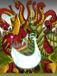 Olragon vs Orochi: Colored