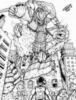 Godzilla Neo vs RDC's Gamera by Deadpoolrus