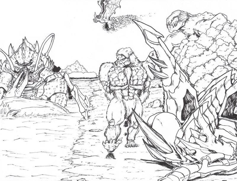 Monster Isle: The Beach by Deadpoolrus