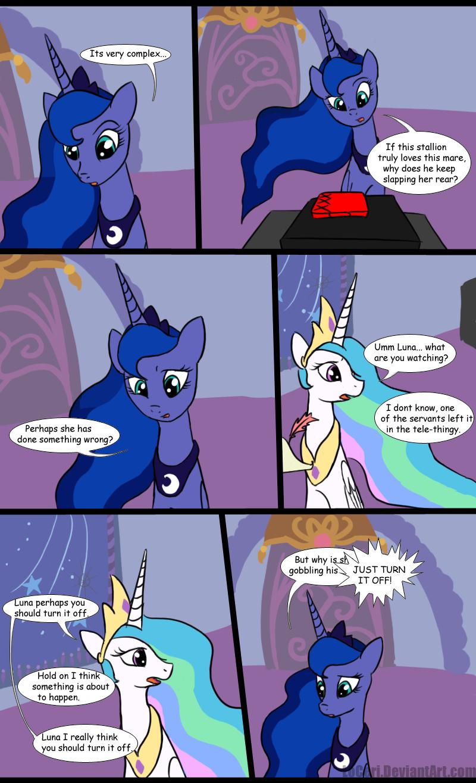 MLP Luna Discovers Pr0n by LoCeri