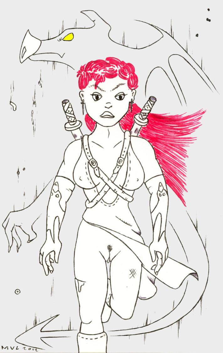 Ninja girl. by Valgergo