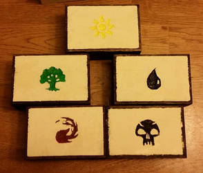 Mini MTG Mana Boxes