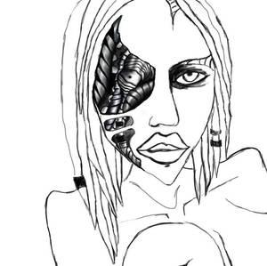 Manson the Biomechanoid re-drawing