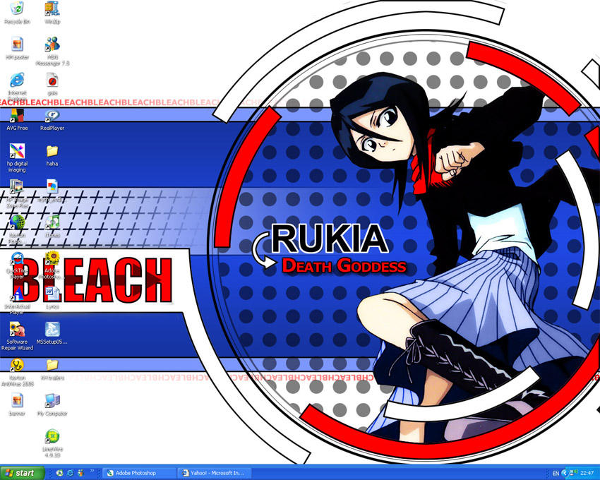rukia desktop by fantasist