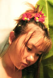 with flower I