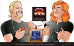 Dave Mustaine y James Hetfield