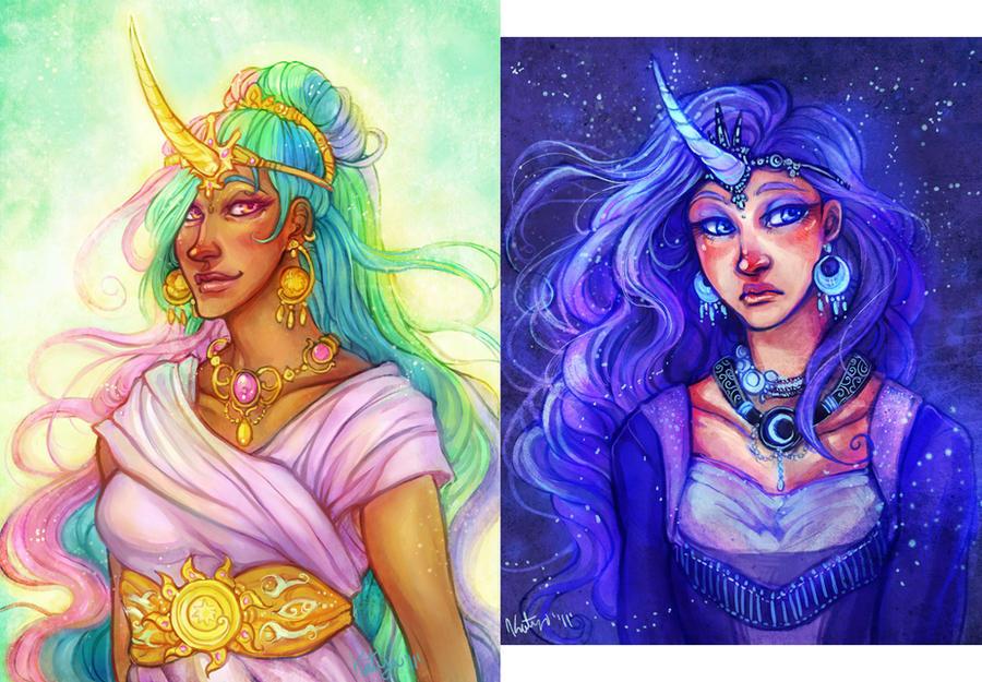 sky princesses by katya-h