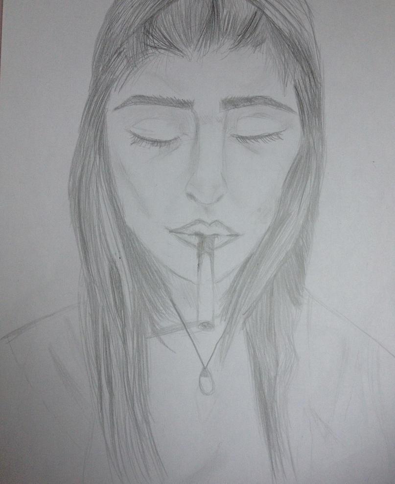 Girl portrait by LittleYtra