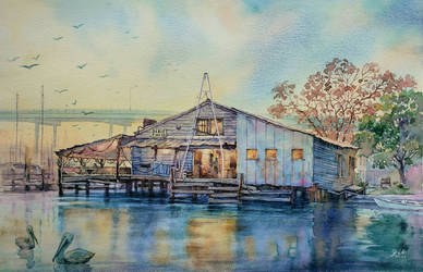 Dixie Fish - Ft. Myers Beach, FL watercolor