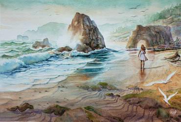 Alone Beach Walk