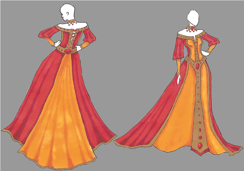 Solara's Dress by CrimsonCommande