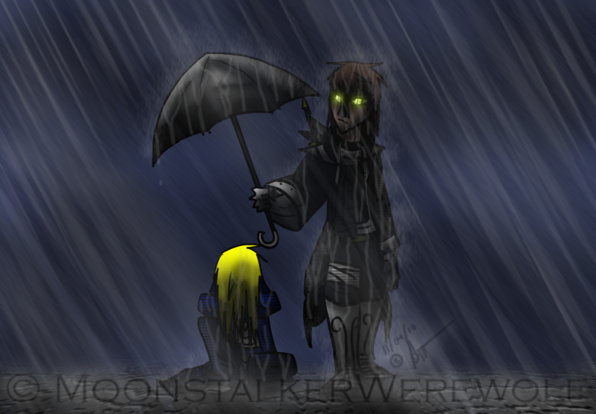 Taking the Rain by MoonstalkerWerewolf