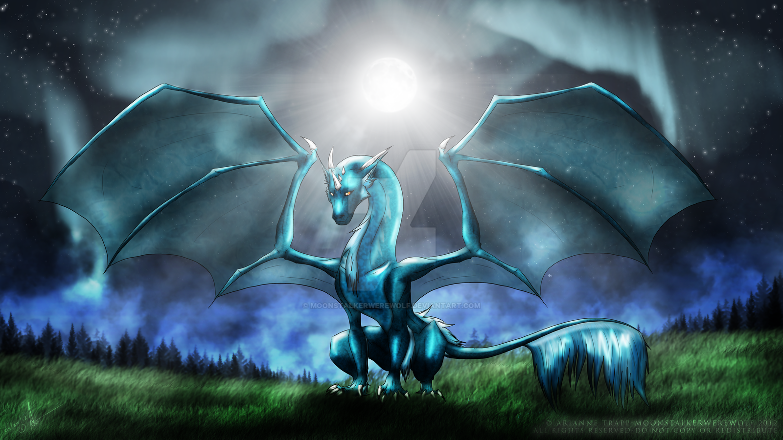 Raine the Water Dragon by MoonstalkerWerewolf