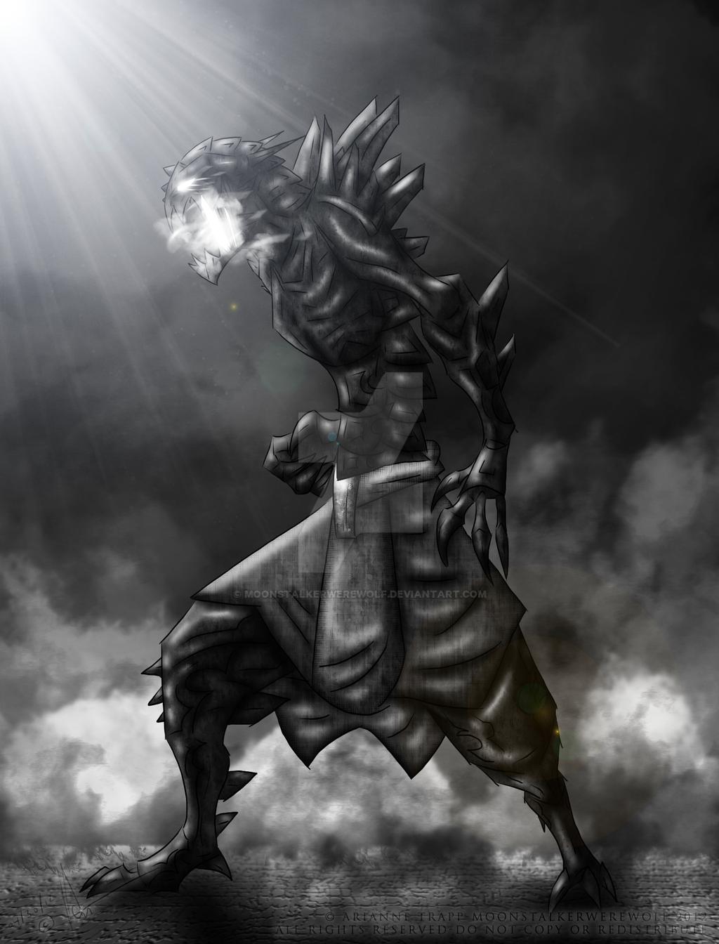 Armor Demon Sentry by MoonstalkerWerewolf