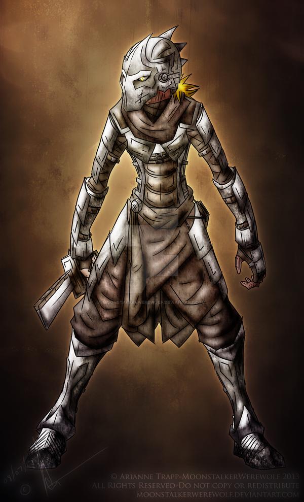 Aerwyn Effusus  [Gherran Armor] by MoonstalkerWerewolf