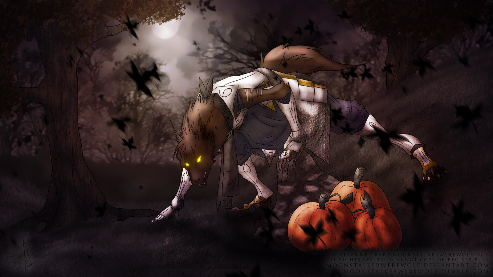 halloween night wolf by moonstalkerwerewolf halloween night wolf by moonstalkerwerewolf - Wolf Halloween