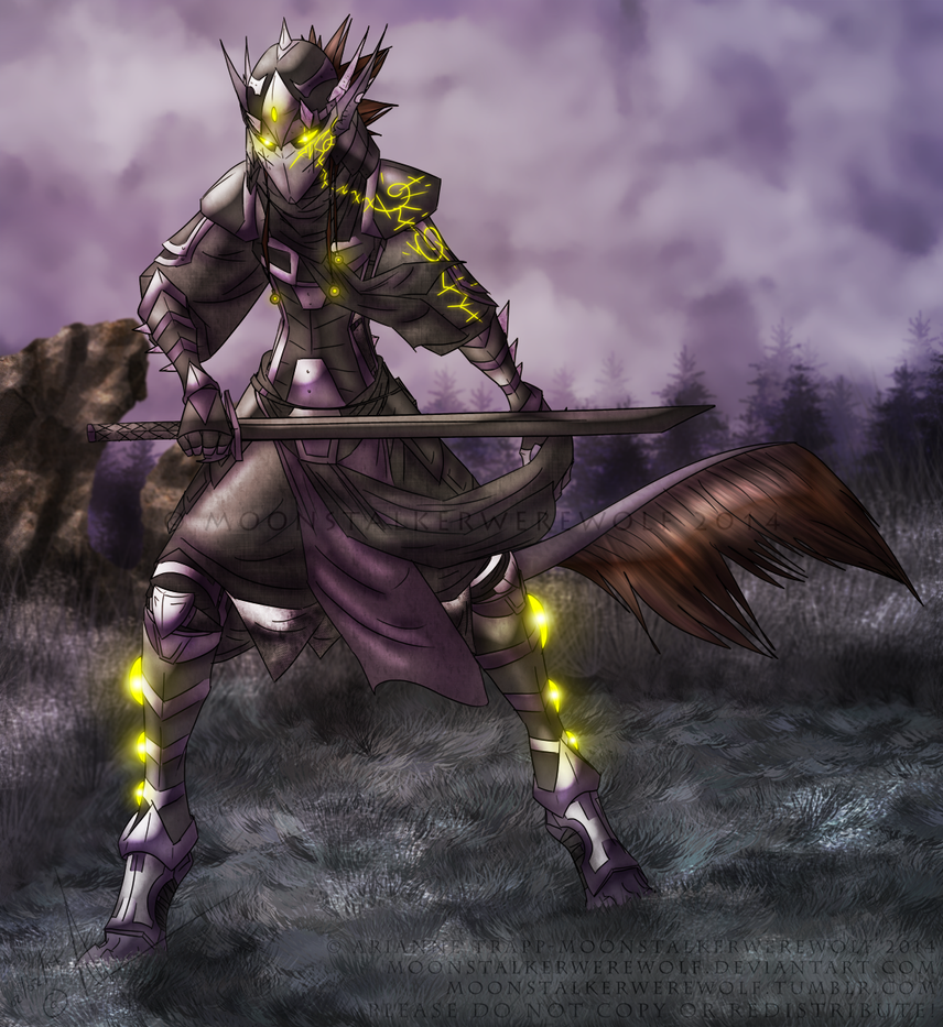 Armored Horned Guardian by MoonstalkerWerewolf
