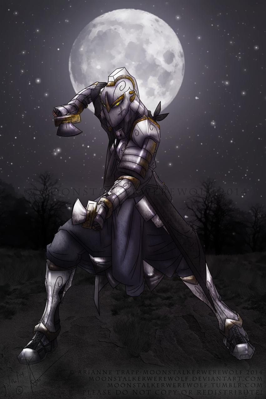 Assassin Knight by MoonstalkerWerewolf