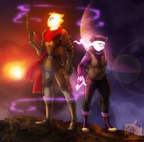 Starbound: Methane and Smitten by MoonstalkerWerewolf