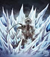 Ice Demon by MoonstalkerWerewolf