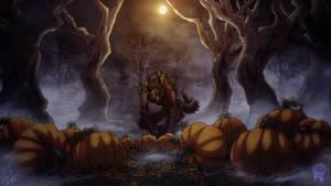 Awooootober 31: Pumpkin She-Wolf