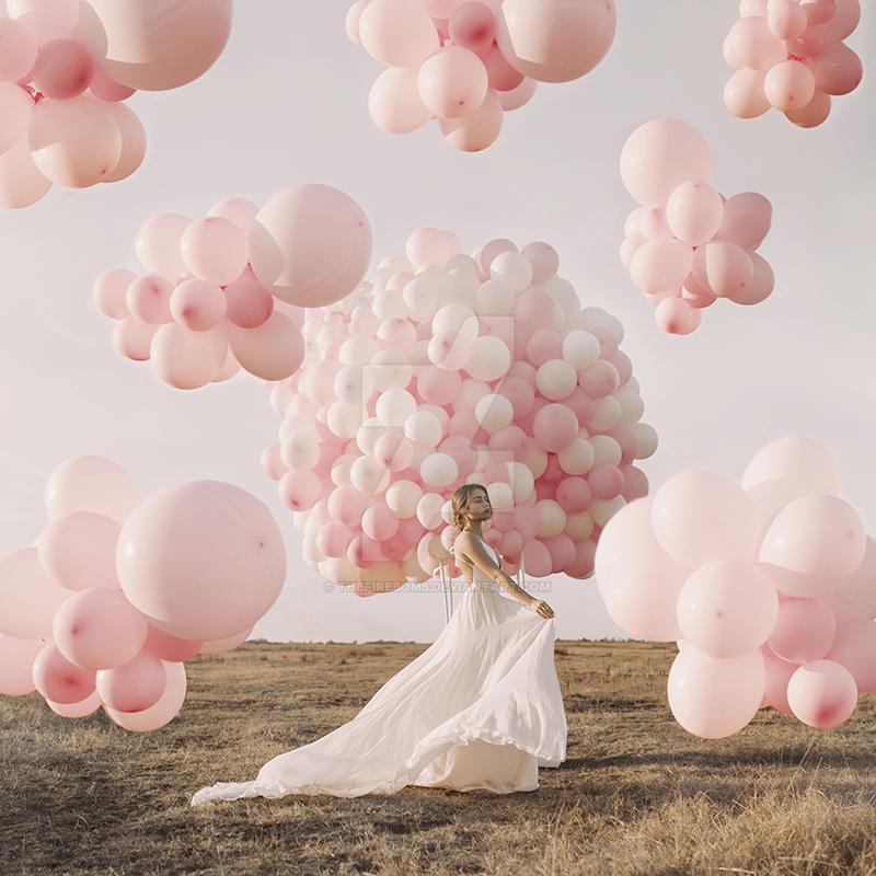 Balloon paradise by thefirebomb