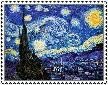 Starry Night Stamp by ForgetfulRainn