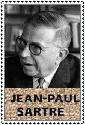 Jean-Paul Sartre Stamp by ForgetfulRainn