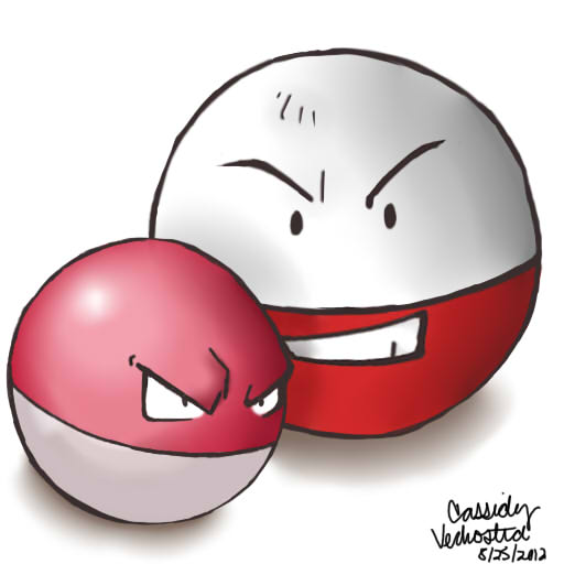 electrode and voltorb by anime sasu94 on deviantart. Black Bedroom Furniture Sets. Home Design Ideas