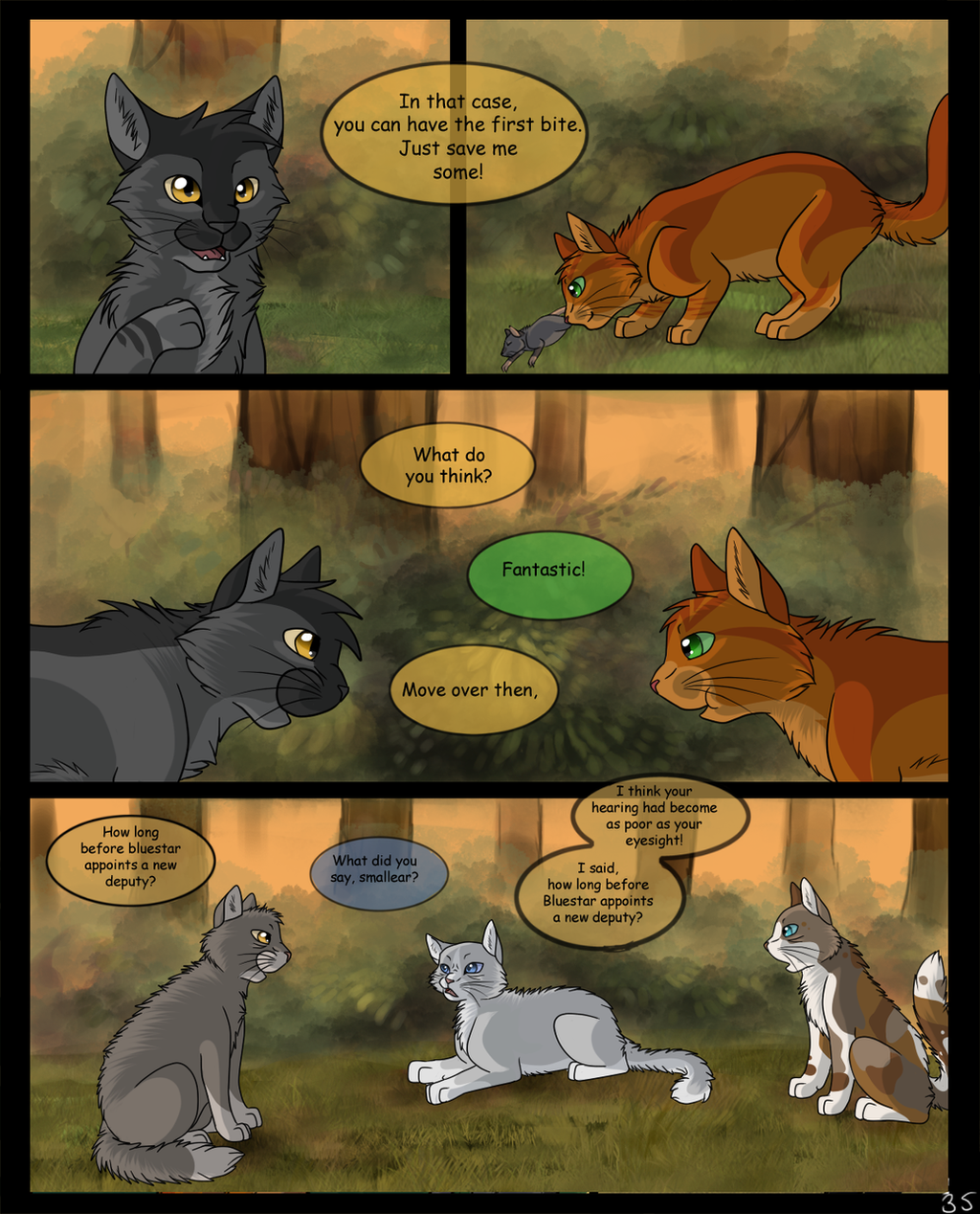 Warriors Into The Wild Movie By Erin Hunter: Page: 35 By SassyHeart On DeviantArt