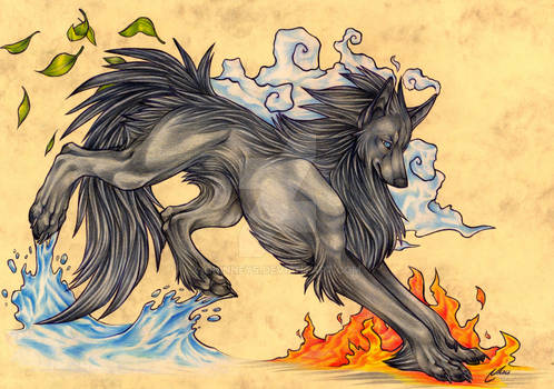 Elemental Wolf