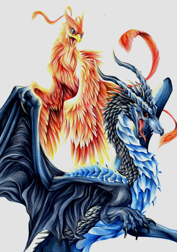 Phoenix And Dragon