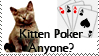 Kitten poker anyone stamp by p by TheBuffyClub