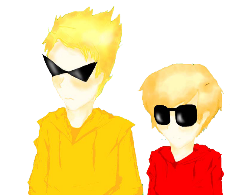 dave and dirk in hoodies c: by KatLovesMusic