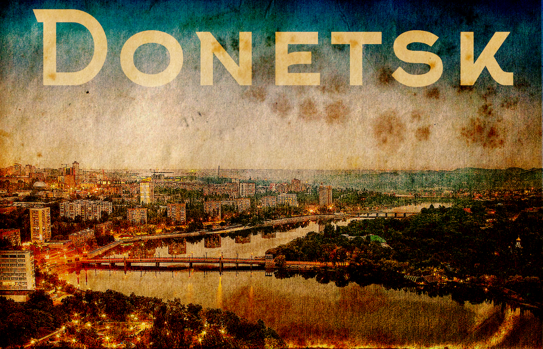 Poster Donetsk: a selection of sites