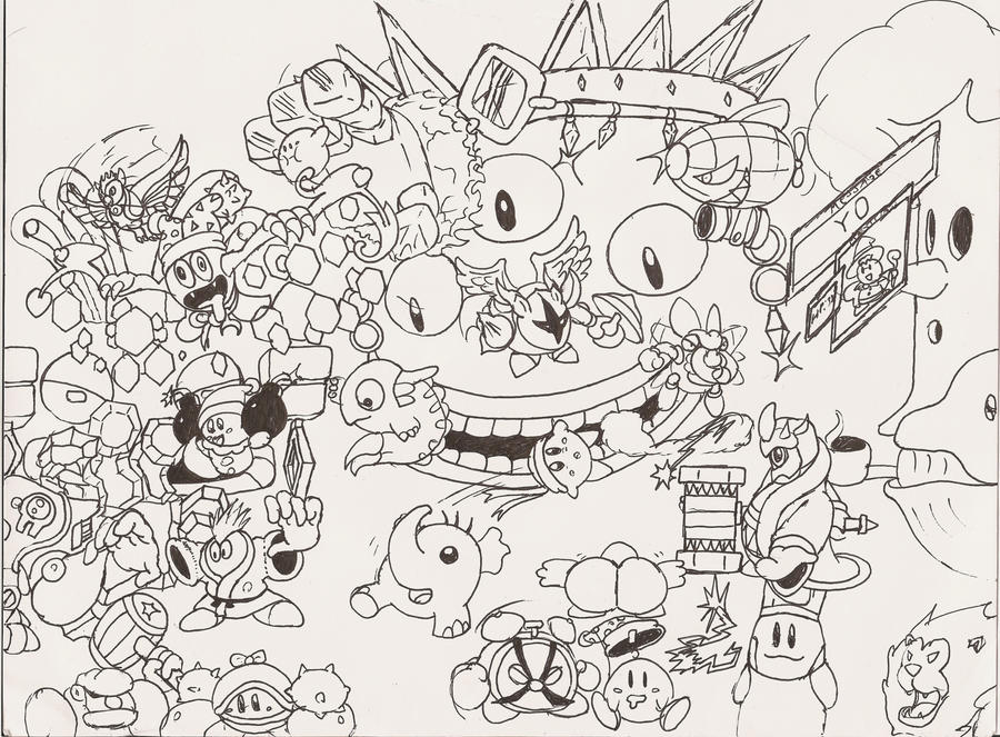 Kirby Super Star Ultra Bosses By SleightTrain04