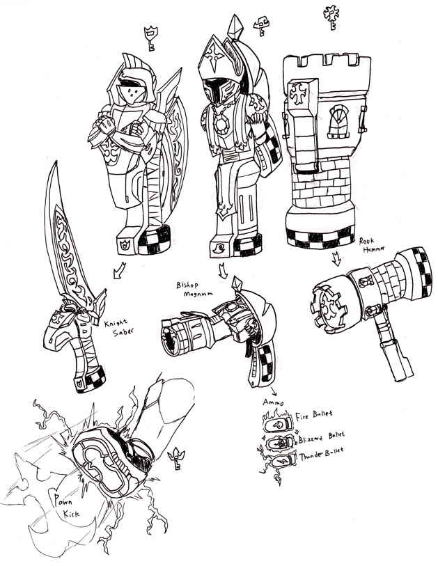 Kamen Rider Roxas: Weapons by FlamedramonX20