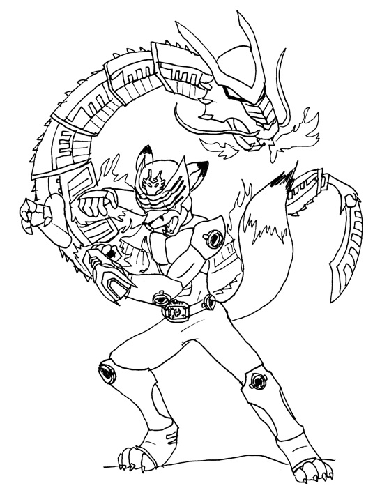 kamen rider coloring pages - furry dragon coloring coloring pages
