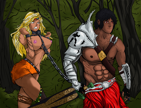 Chained Amazon Colored
