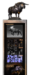 Game Asset | Shadowbull by Vergil93