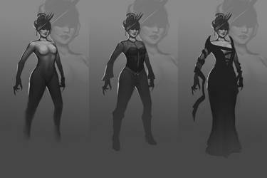 Game Character Concept - Vampire Lady by Vergil93