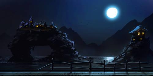 VampireGame Environment Sketch by Vergil93