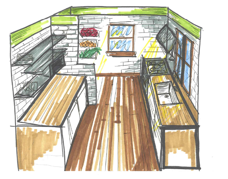 Kitchen sketch by anne0912 on deviantart for Interior designs kitchen sketches