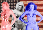Red ,White And Blue Divas