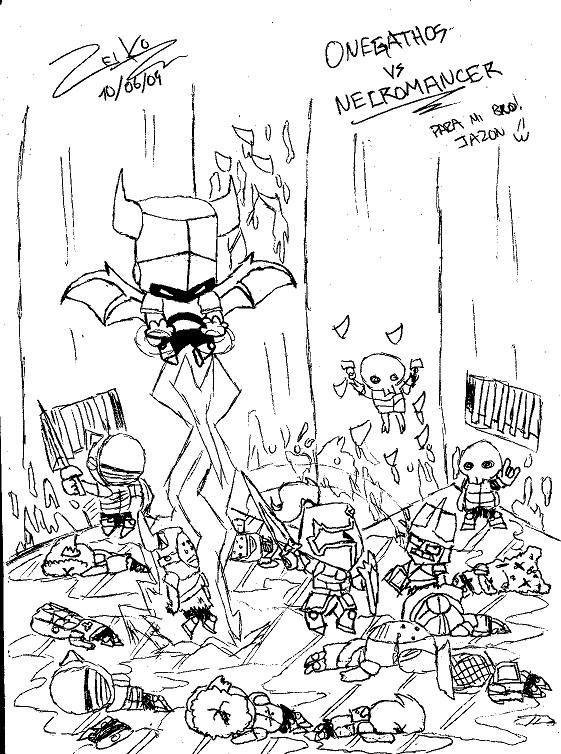 Necromanser On Castle Crashers