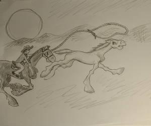 Horses and cowboys by Didiri1337