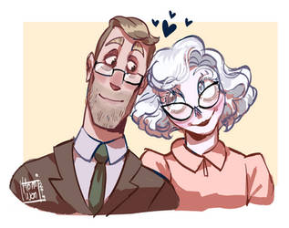 [COMMISSION] Walter and Mary by homiwomi