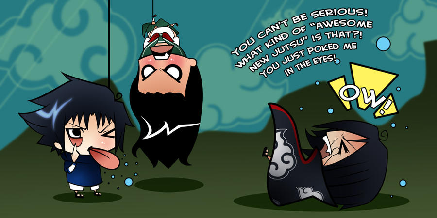 Chibi Commish: Sasuke wins by nerdyridbug on DeviantArt